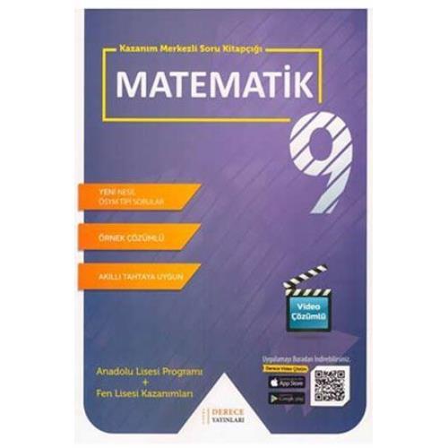 Derece Yayınları 9. Sınıf Matematik Modüler Set Derece