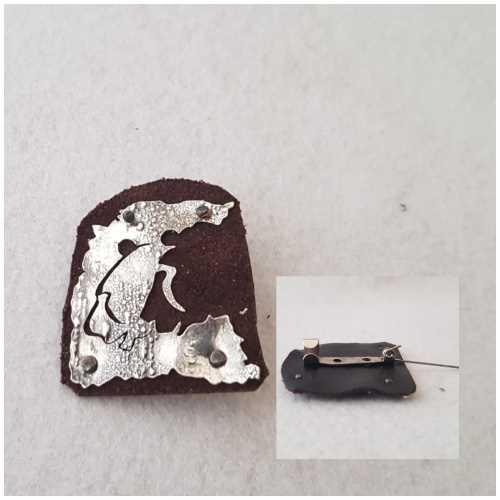 Cave Art / Aslanlar Gümüş Broş Elir