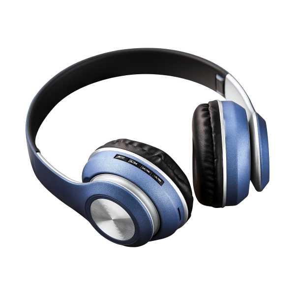 Polosmart FS19 Mp3 Player Kulak Üstü Kablosuz Kulaklık - Mavi