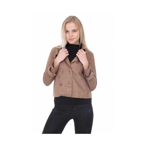 Patiska Kadın Kısa Süet Ceket 1163321