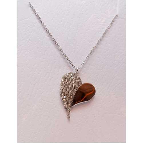 Kalp gümüş 925 ayar gümüş kolye
