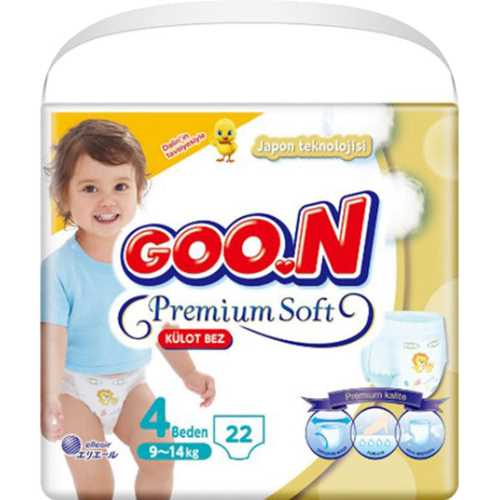 Goon Premium Külot Bez Ekonomik 4 Beden 22 Adet