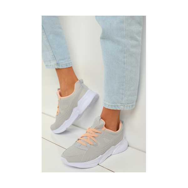 GriSomon Bağcıklı Kadın Spor Ayakkabı