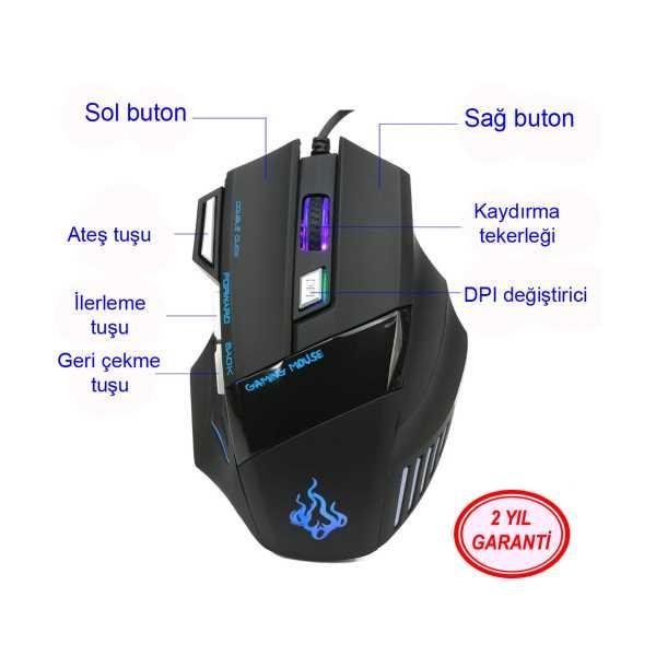 Layftech A908 Pro Gaming Mouse,5500 DPİ,7 düğmeli,Ateş tuşlu,oyun faresi