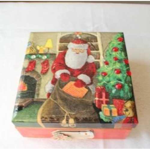 El Emeğim Noel Baba Temalı Kare Kutu