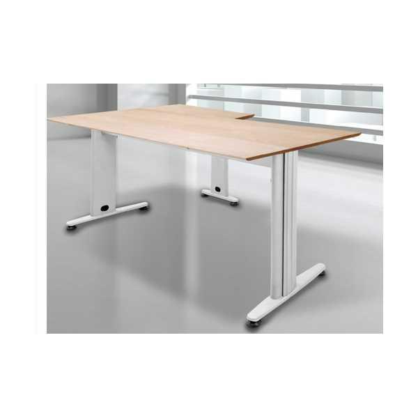 Ofis Çalışma Masası L tipi Köşeli Metal Ayaklı Ahşap Tablalı 139x139 xm