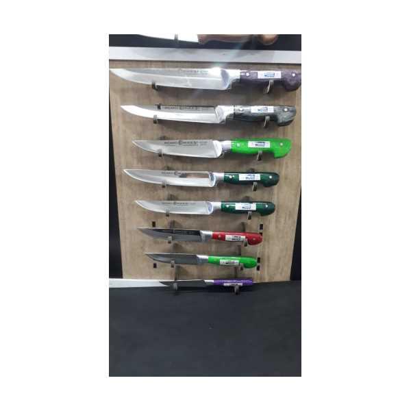 Cm Alüminyum Bilezikli Epoksi Saplı El Yapımı Dövme Çelik Mutfak Bıçağı kasapepoksi set 7 parca