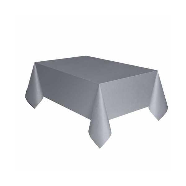 Plastik Masa Örtüsü Gümüş Renk 137x270 cm