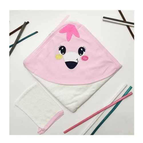 Pink bebek havlusu