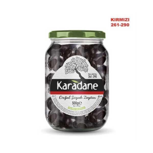 Karadane Siyah Zeytin 261-290 Kalibre KIRMIZI-500g