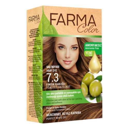 FarmaColor Saç Boyası(Fındık Kabuğu-7.3)