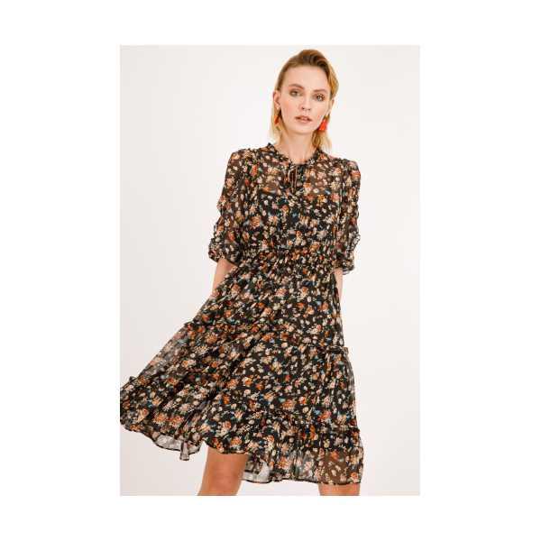 Class giyim Ekol Çiçek Desenli Elbise