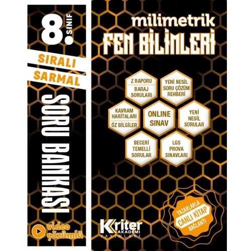 8. Sınıf Kriter Yayınları Fen Bilimleri Soru Bankası