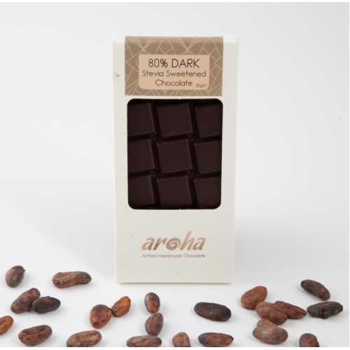 Aroha Stevialı %80 Bitter Çikolata (Ketojenik)