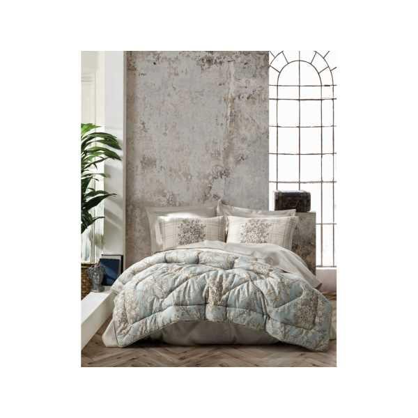 Cottonbox Saten Çift Kişilik Uyku Seti Terry Bej