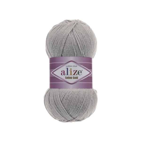 Alize Cotton Gold No: 21 Renk: Gri Melanj (5'li paket)