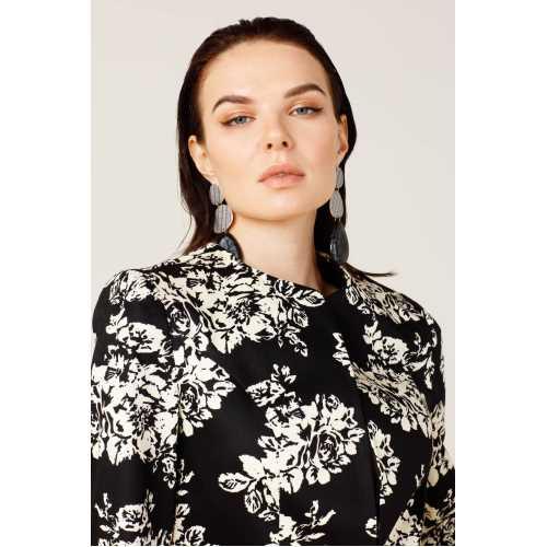 CLASS GİYİM Ekol Çiçek Desenli Ceket