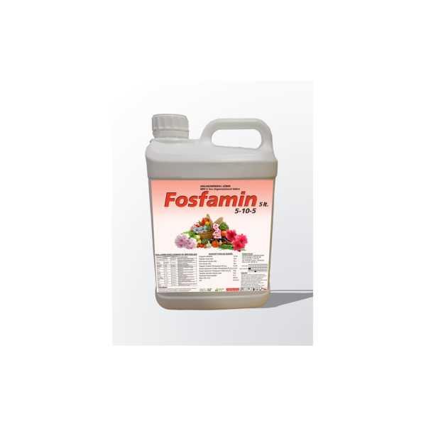 Fosfamin 5 Litrelik Npk'lı (%5 Azotlu - %10 Fosforlu - %5 Potasyumlu) Sıvı Organomineral Gübre