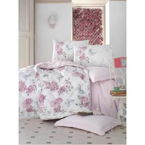 Cottonbox Rosella Çift Kişilik Ranforce Uyku Seti Pembe