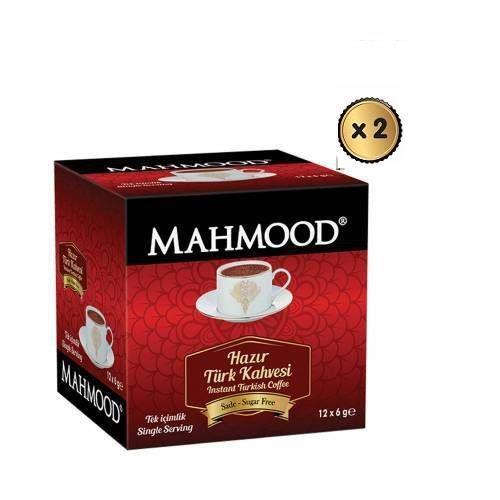 Mahmood Tek İçimlik Türk Kahvesi Sade 12 x 6 gr  ( 2 ADET ) ( midyatziv )