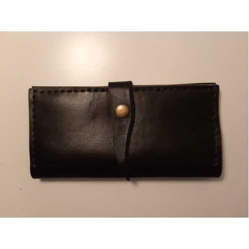 Boyalı bohça siyah cüzdan