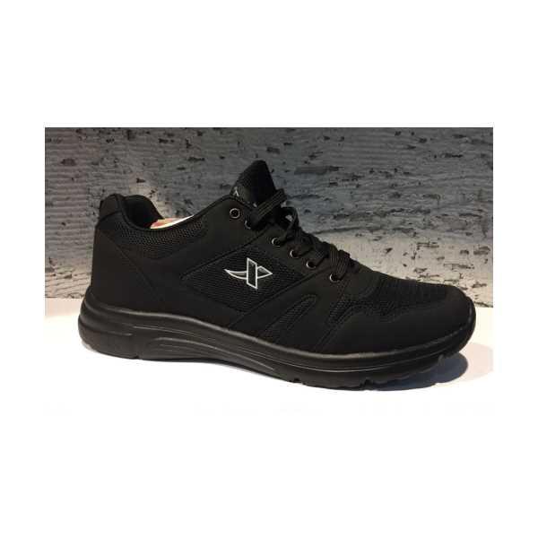 Erkek Spor Ayakkabı  45-46-47 Özel Numara Siyah