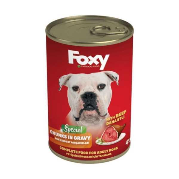 FOXY Köpek Maması 415 Gr (DANA ETLİ)