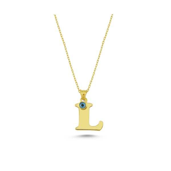 Starlight Diamond Kadın L Harfi 18 Ayar Altın Kaplama Gümüş Kolye
