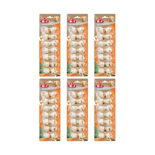 8in1 Delights Bone Köpekler İçin Tavuklu Ağız Bakım Kemiği 7'li Paket x 6 Adet