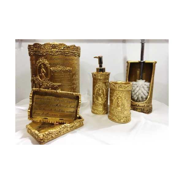 Porselen Altın Sarısı banyo takımı