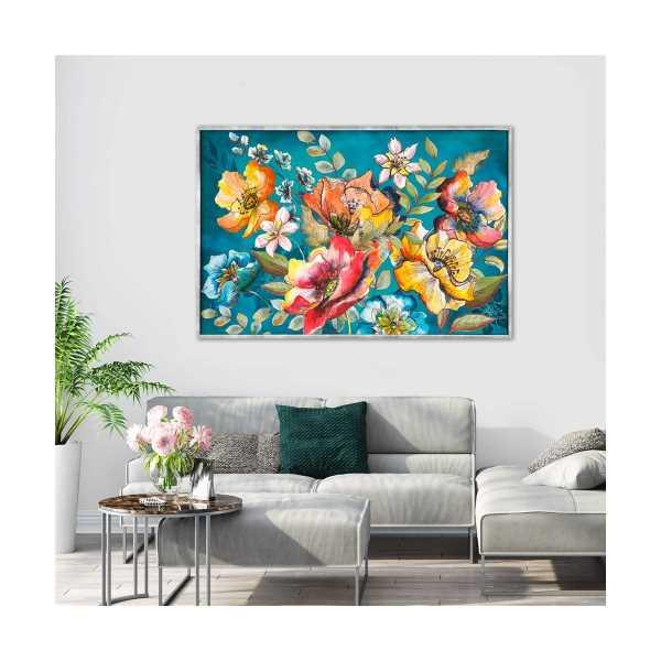 COLOUR FLOWERS YAĞLI BOYA DOKULU TABLO