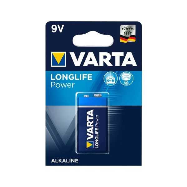 Varta Longlife Power Alkaline 9V Pil