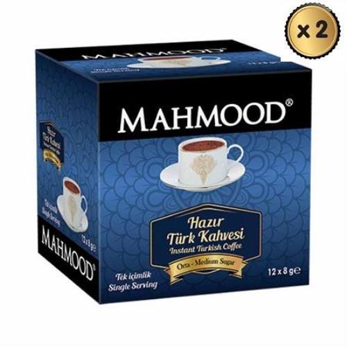 Mahmood Coffee Hazır Türk Kahvesi Orta 8 gr x 12 adet ( 2 ADET ) midyatziv