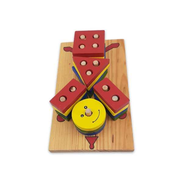 Montessori Eğitici Oyuncak: Ahşap Eğitici Bultak Geometrik Şekill