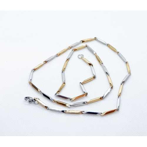 316L Kararmaz kalitede çelik zincir. Garantili Kesinlikle okside olmaz  sarı