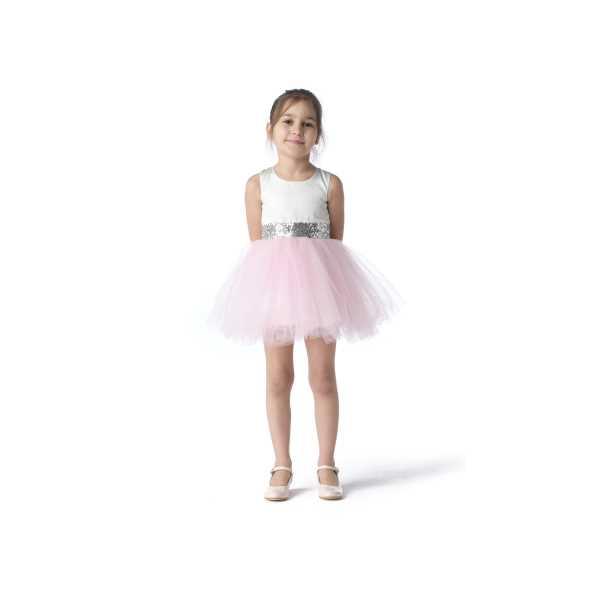 Tülü Akkoç Pembe Abiye Tütülü Prenses Elbise TAK21A301E