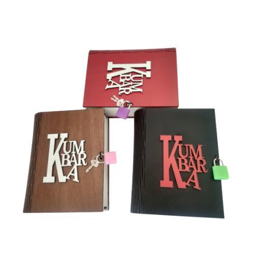 Kitap Görünümlü Dekoratif Asma Kilitli Kumbara