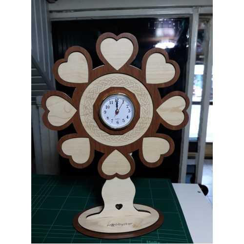 fotgraflı kalp masa saati hediyelik