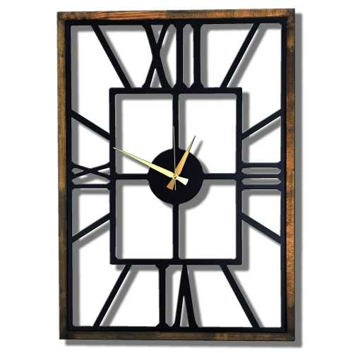 Dekoratif Duvar Saati;Metal Saat, Büyük Duvar Saati