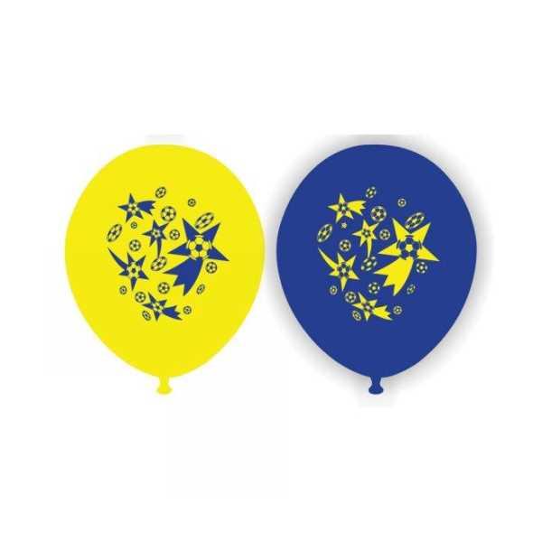 Sarı Lacivert Baskılı Balon 50 Adet