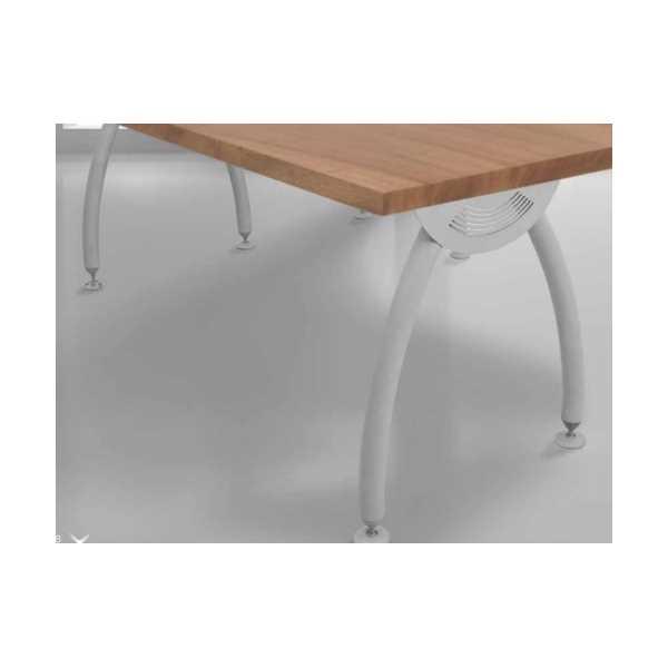 Ofis çalışma masası metal ayaklı ahşap tablalı 69x139 cm