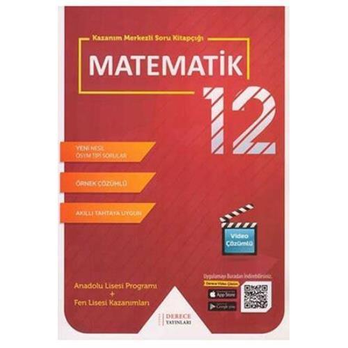 Derece Yayınları 12. Sınıf Matematik Kazanım Merkezli Soru Kitapçığı Seti Derece