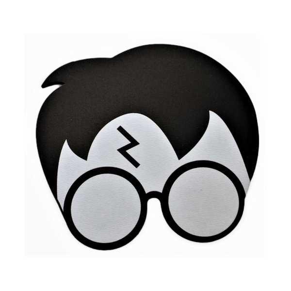 WoodyPack Siyah Harry Potter Şekilli Kesim Ahşap Bardak Altlığı