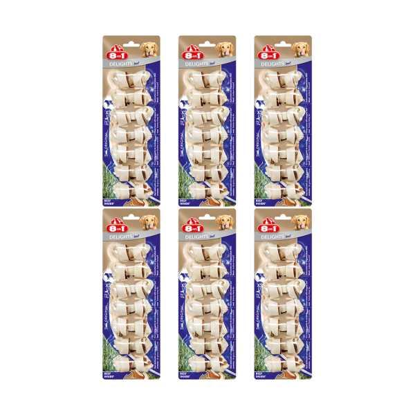 8in1 Beef Delights Bone Köpekler İçin Biftekli Ağız Bakım Kemiği 7'li Paket x 6 Adet