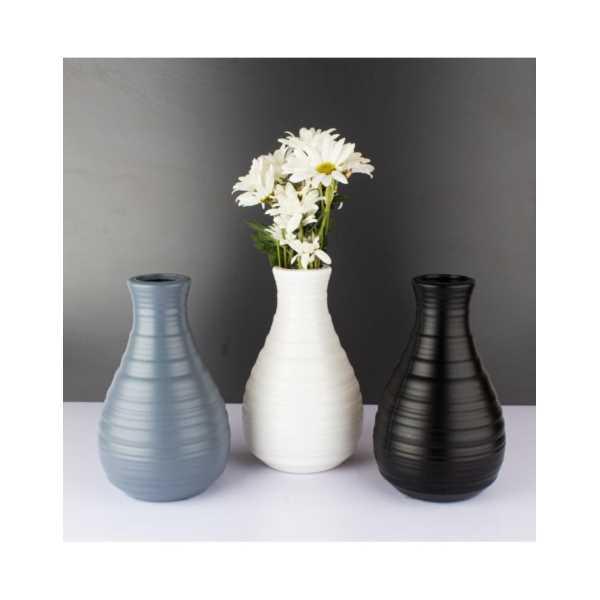 Tombul Vazo - Kırılmaz Plastik Vazo