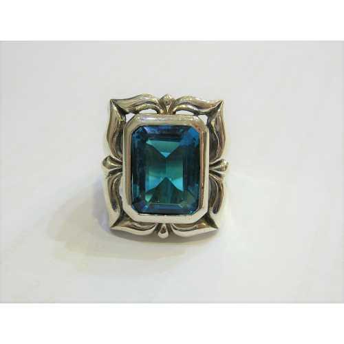 Blue Topaz Gümüş Yüzük