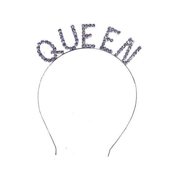 Quenn Yazılı Metal Tasli Kralice Taci