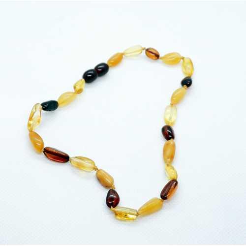 Kehribar Gümüş Akçe Bebek Diş Kolyesi Damla Kehribar Natural Amber Şifalı taş