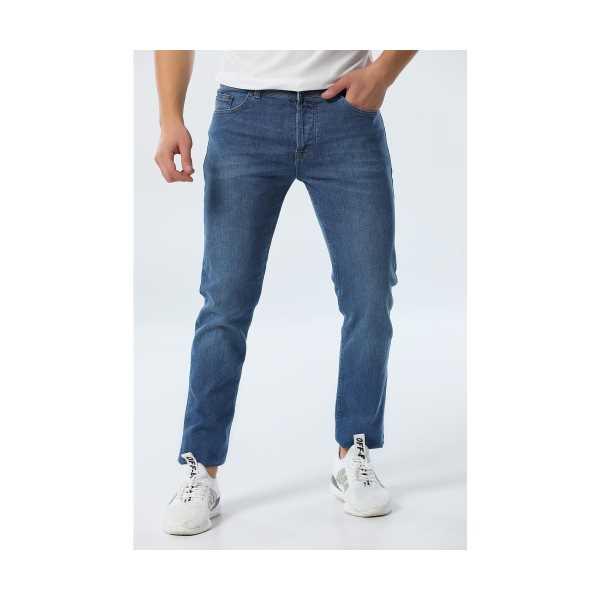 Xlack Genç Erkek Mavi Kot Pantolon Jean Slim Fit Lıkralı