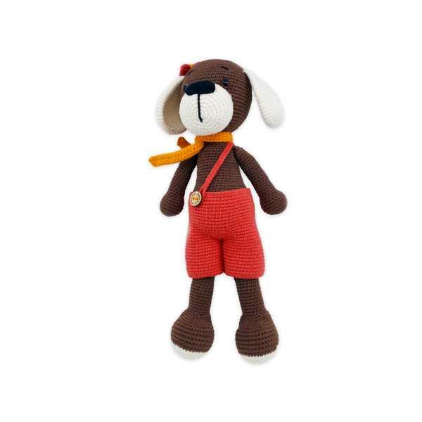 Amigurumi Sevimli Köpek Max (Organik El Örgüsü, Sağlıklı Oyuncak) Amigurumi Köpek